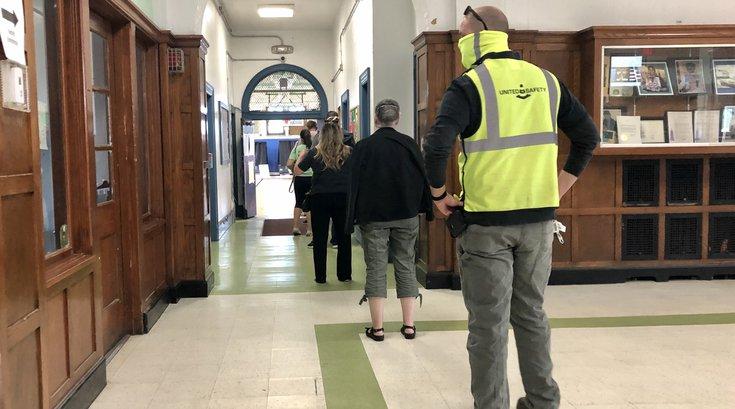 2020 primary election voter line