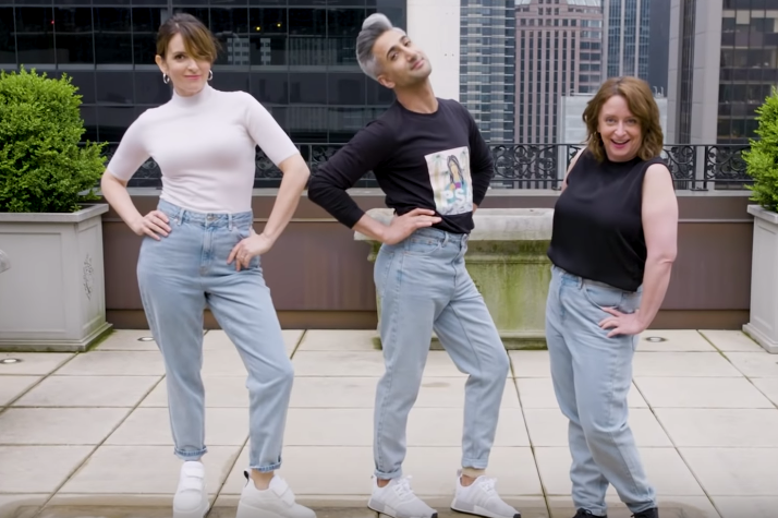 Tina Fey, Rachel Dratch, and Tan France