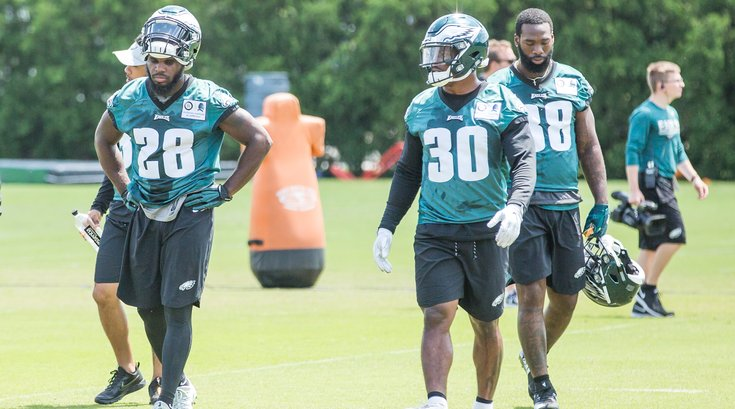Carroll - Eagles Stock Wendell Smallwood, Corey Clement and Matt Jones