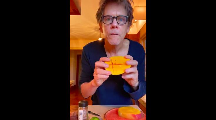 Kevin Bacon morning mango