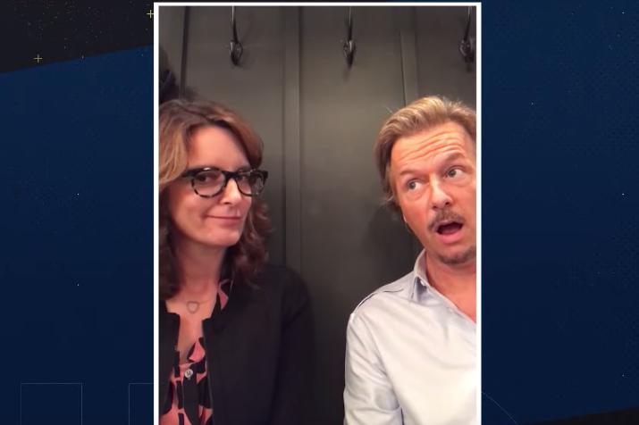 David Spade Tina Fey interview