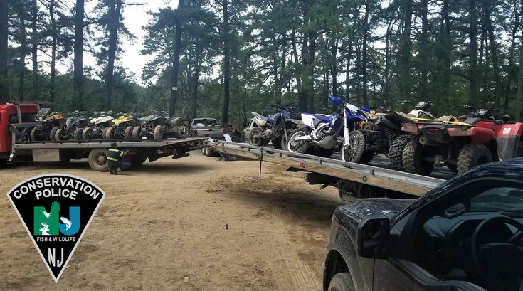 ATVs impounded New Jersey