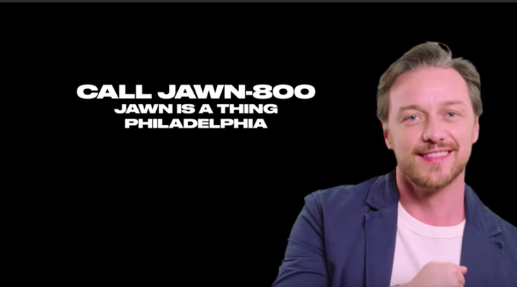 James McAvoy Philadelphia slang jawn