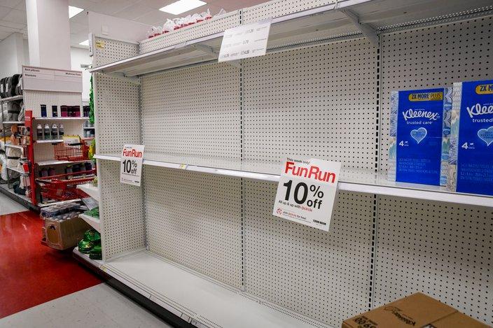coronavirus target empty shelves 2