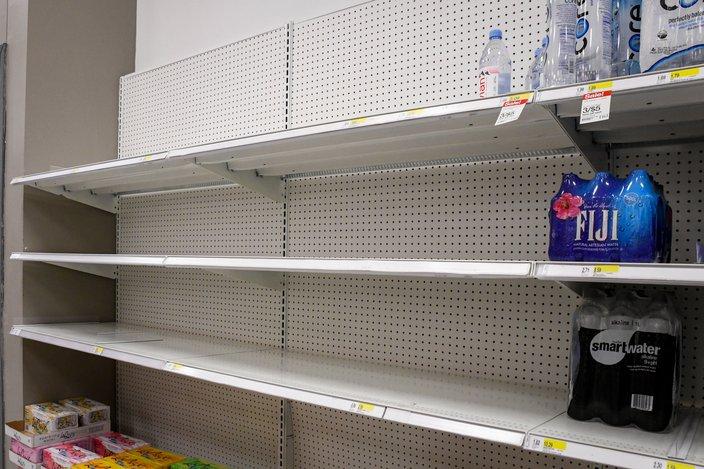 coronavirus target empty shelves