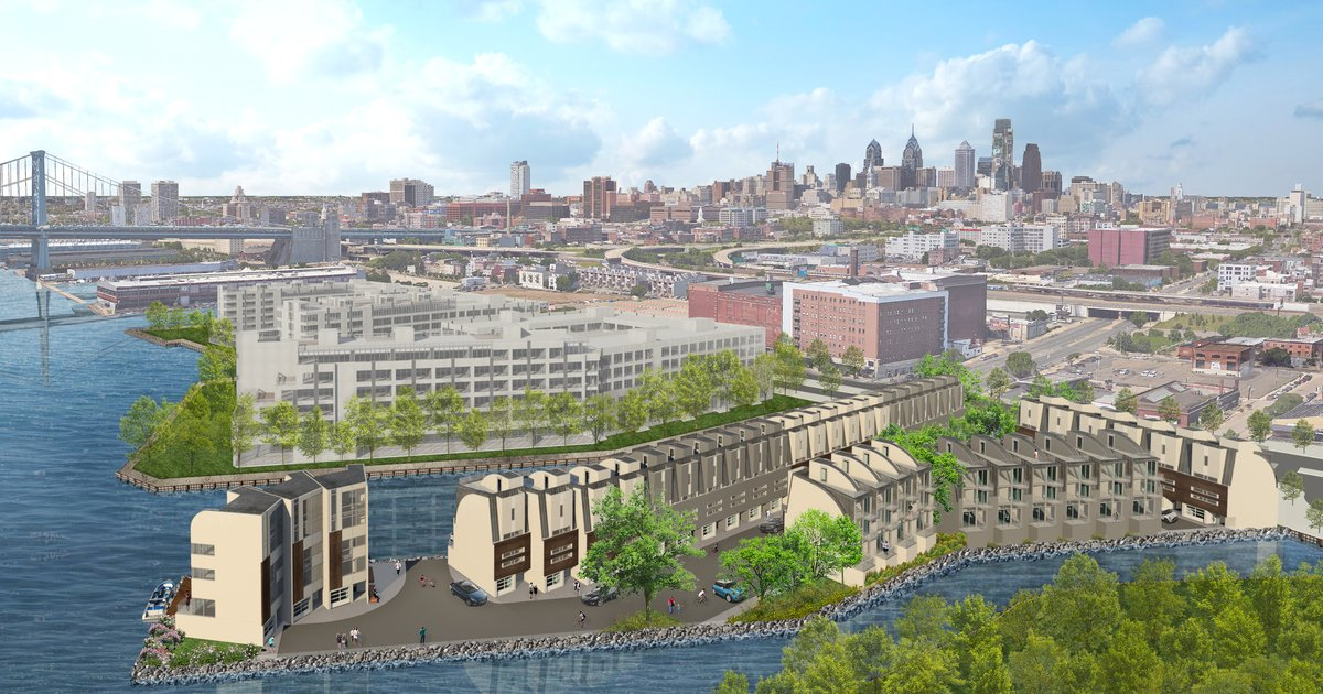 Waterfront homes planned at site of failed Trump Tower in Philly