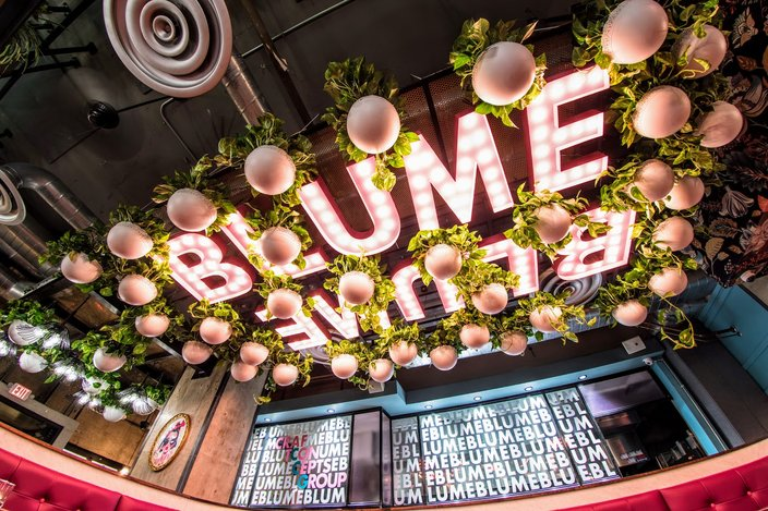 Interior of Blume restaurant/bar in Rittenhouse
