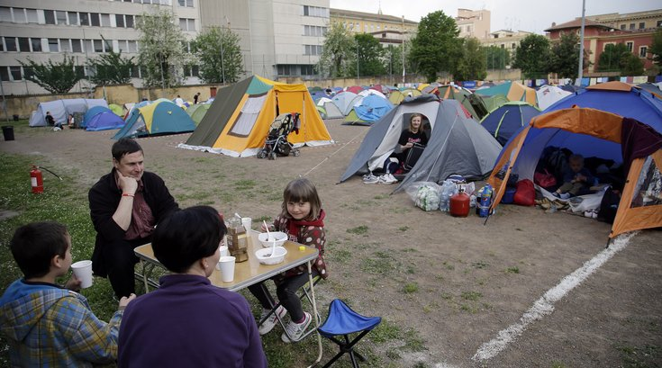 Camping During Pope Visit