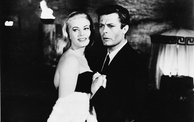 Anita Ekberg and Marcello Mastroianni