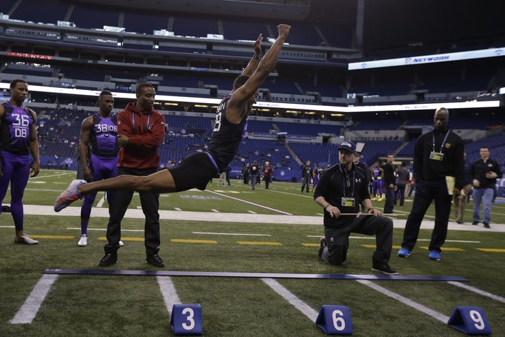 Jones' 12-foot, 3-inch broad jump steals show on final day of NFL Combine | PhillyVoice