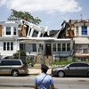 Building collapse Philly
