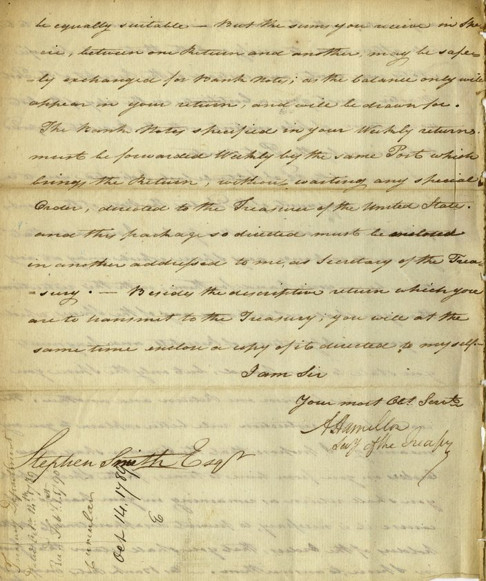 For sale Letters written by Alexander Hamilton while founding