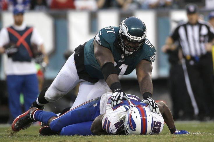 save off 27831 a96a2 Fletcher Cox destroying the Bills' offensive line, in gif ...