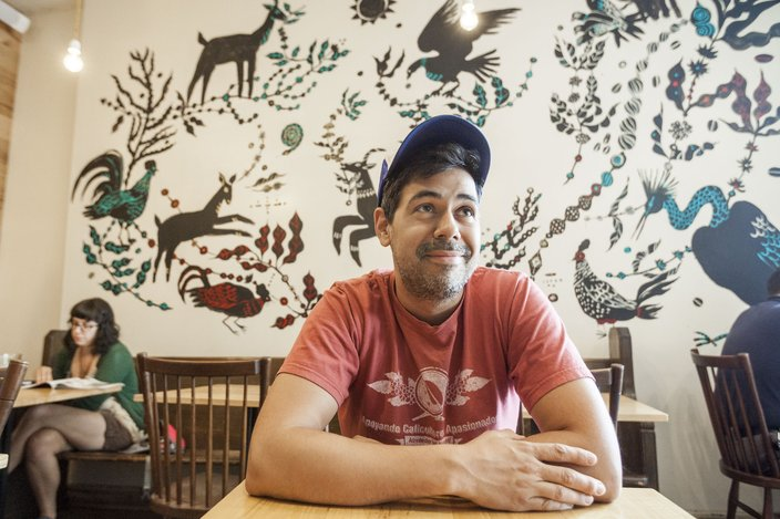 Aaron Ultimo with Mural