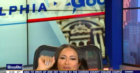 FOX29's Alex Holley falls off chair on live TV, blames Friday the 13th  PhillyVoice
