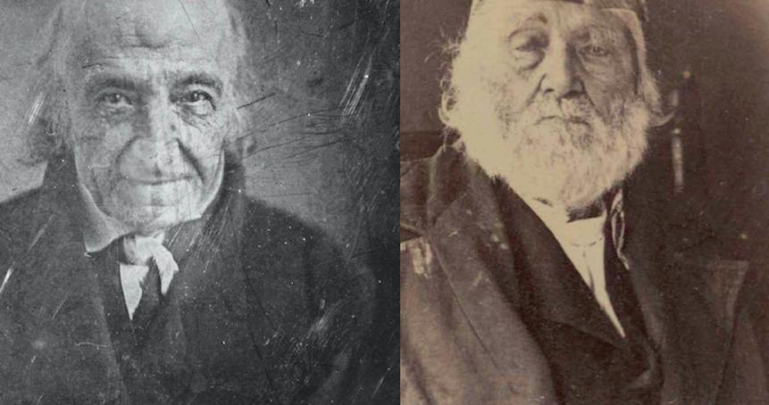 A rare view of Revolutionary War veterans