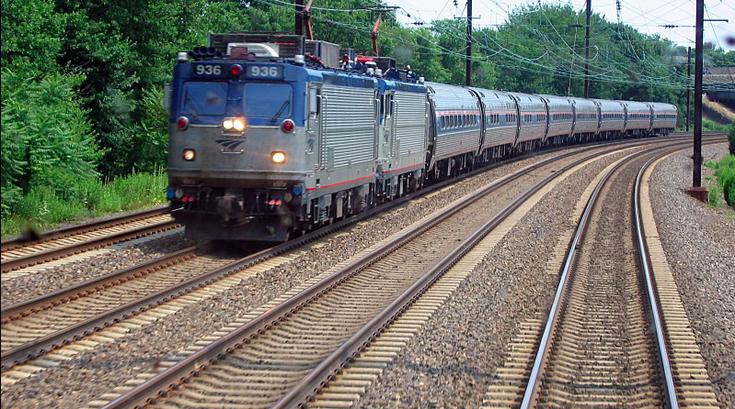 Amtrak regional rail train