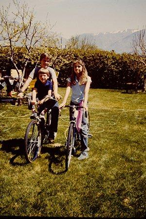 Amy Wright Glenn on Bike