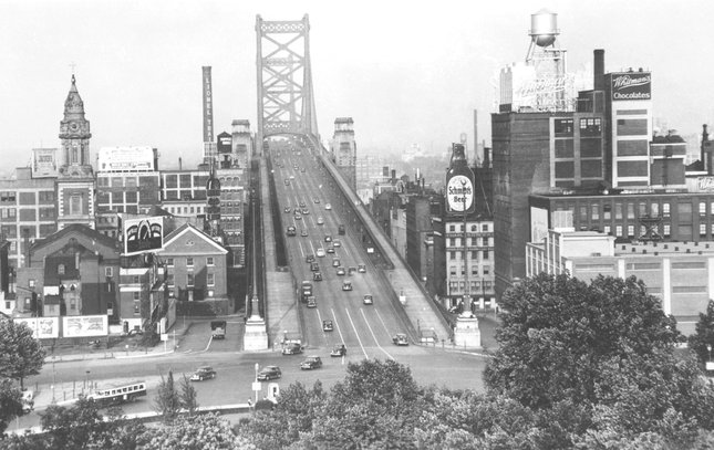 Ben Franklin Bridge construction 7