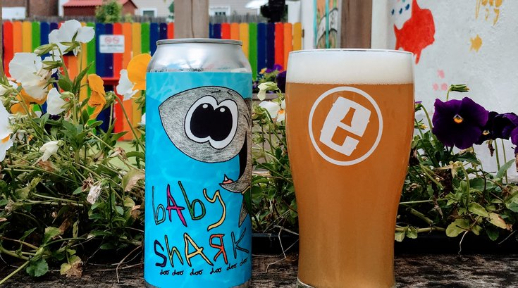 Evil Genius Beer Company's Baby Shark beer