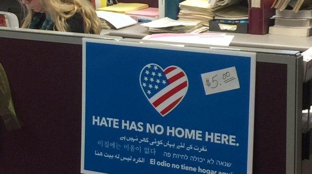 Barrington Hate Signs