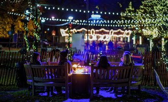 Franklin Square holiday beer garden