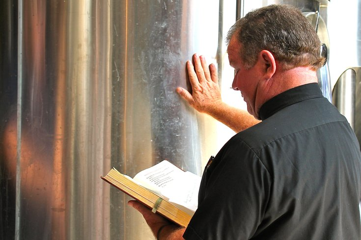 Father Kelly Blessing Brew