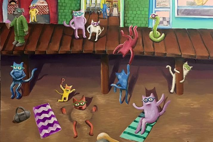 "Sarah Mooney-Tronco's ""Boardwalk Cats"""