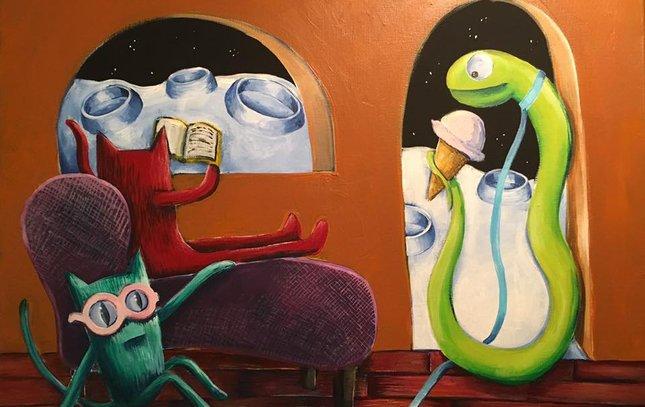 """Boardwalk Cats"" by Sarah Mooney-Tronco"