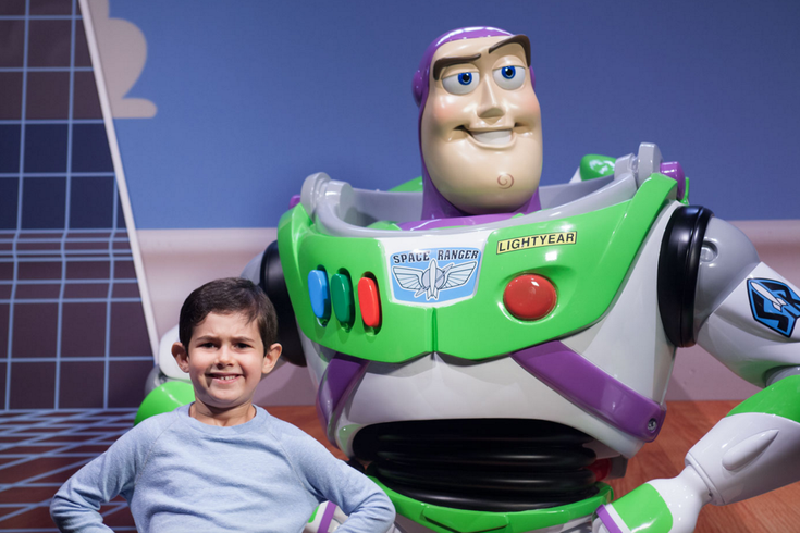 Buzz Lightyear at the Pixar exhibit at the Franklin Institute