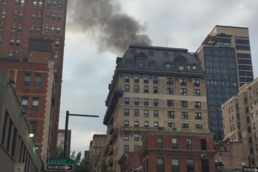 Firefighters battle blaze at Center City apartment building