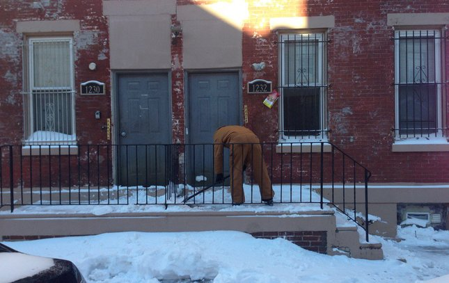 snow shoveling philly