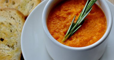 Limited - Carrot-Ginger Soup with Roasted Vegetables