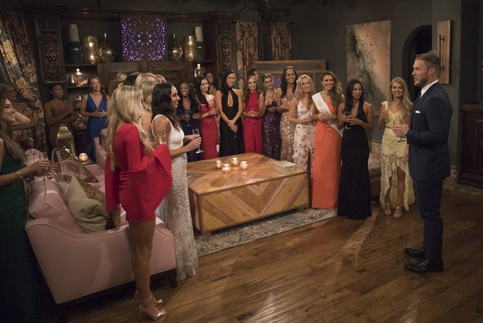 The Bachelor meets with contestants