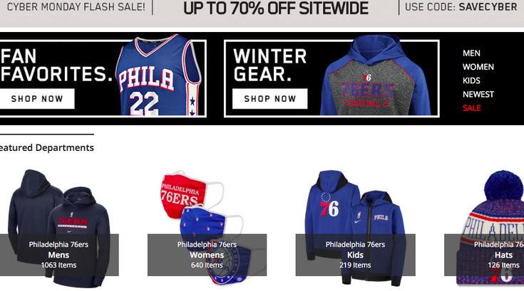 Cyber Monday Sixers