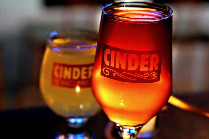 cinder copper and lace beer