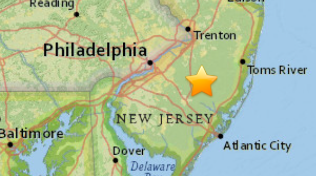South Jersey microearthquake