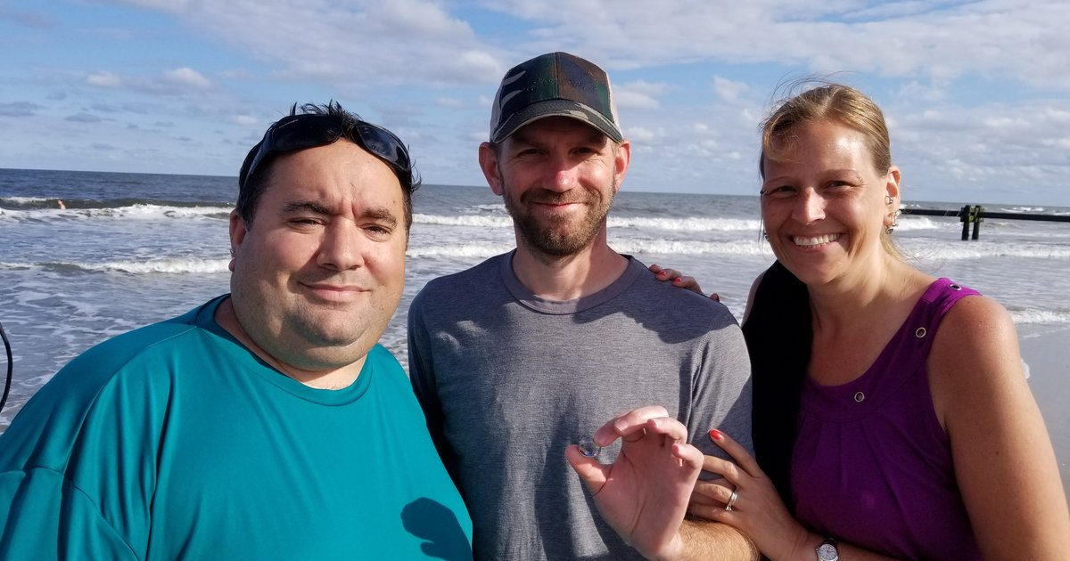 lose a wedding ring in the ocean this guy can help save