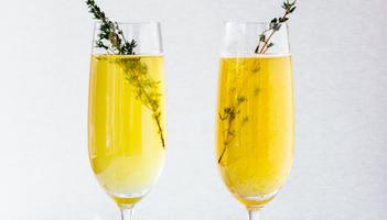 festive cocktail stock image