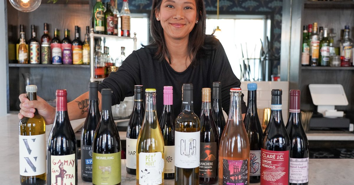 Sample selection of natural wines at 'Drink Like a Fish(towner)'