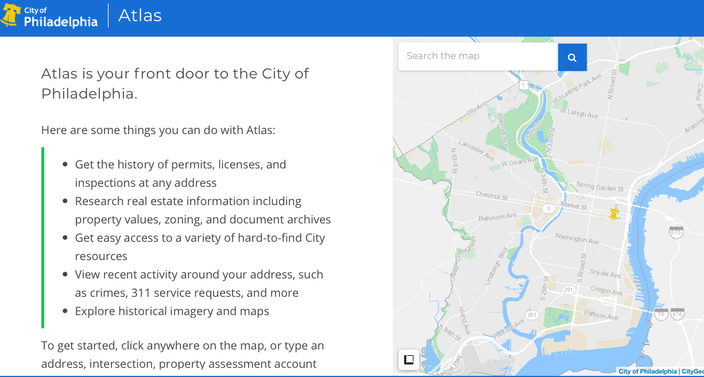 Meet Atlas, Philly's revamped all-in-one property search tool ... on