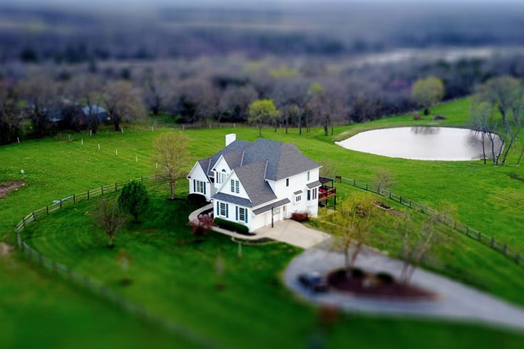 Aerial view of home single family