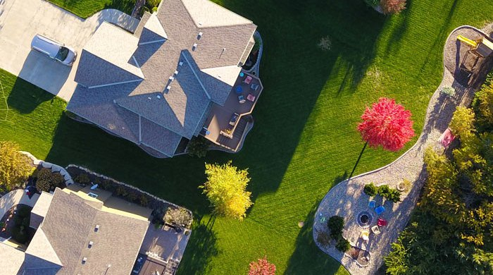 Birds eye view of a home