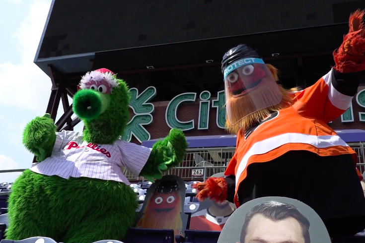 Gritty Phillie Phanatic Citizens Bank Park