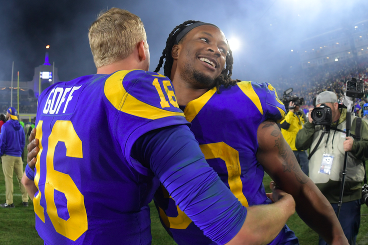 Todd Gurley Jared Goff Rams