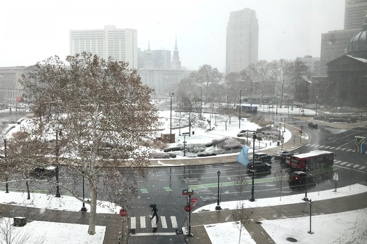Saturday morning snow