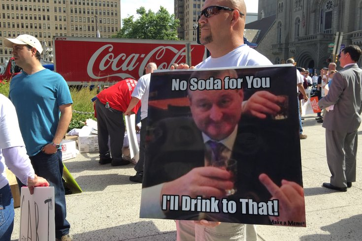 Soda protest sign