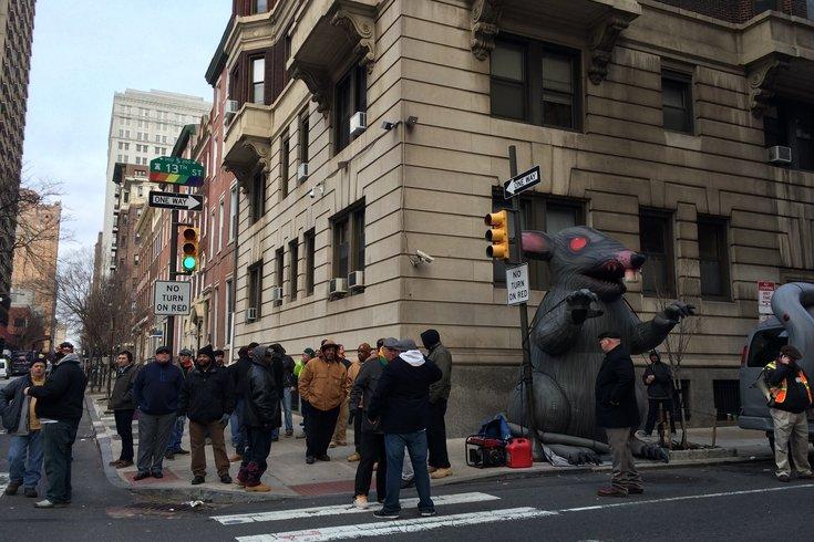 Union protest spruce