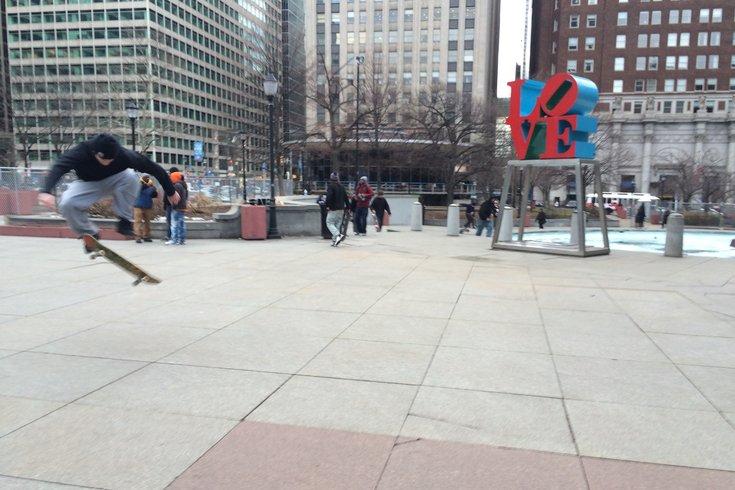 Love Park skateboarding 1