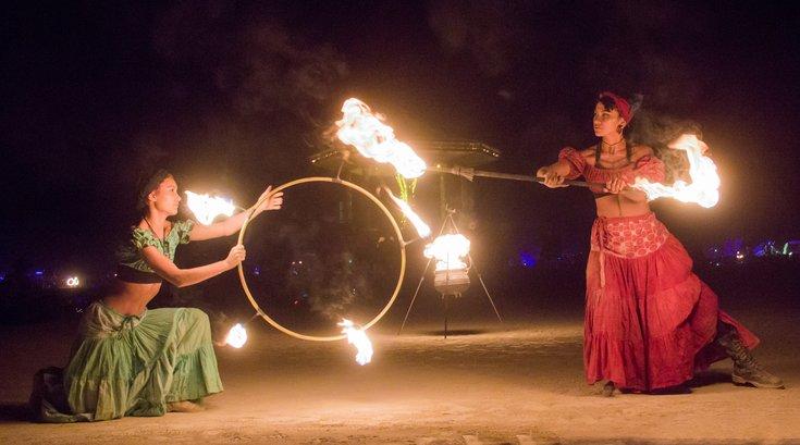 Fire dancers for Penn Museum